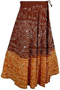 Ethnic bandhni Skirts