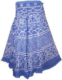 Ethnic bandhni tie and dye long skirt in cotton