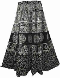 ETHNIC BOHEMIAN WRAP AROUND COTTON LONG SKIRT