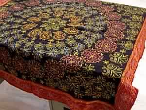 Golden Sequins Work Table Linen