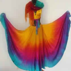 Half Circle Belly dance silk veils