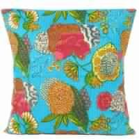 Handmade Kantha work Tropicana Floor Pillows