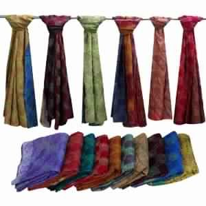 Indian Handmade Silk Sari Stoles