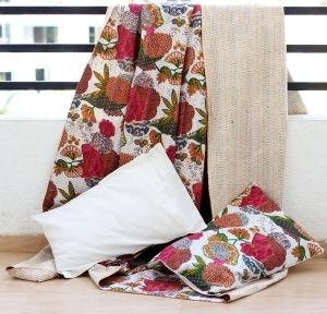 KANTHA QUILTS AND THROWS