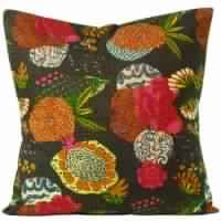 Kantha work Tropicana Floor Pillows