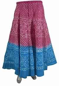long skirt in cotton with sequence