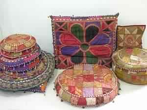 Embroidery Bohemian Tribal Ottomans Stool