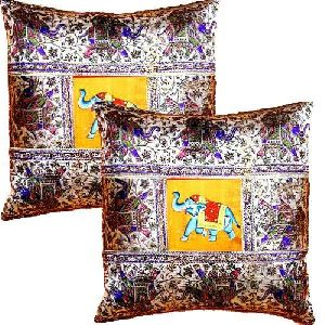 Printed Silk Cushion Covers