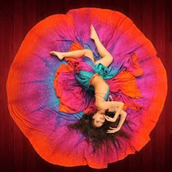 Semi Circle belly dance silk veil