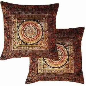 silk jacquard cushion cover