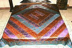 Silk Patchwork Trendy Bedding Bedspread