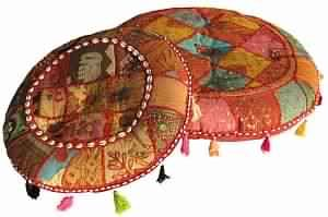 Throw Cushion with Stunning Patchwork