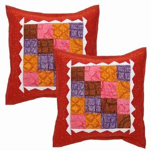 TRIBAL HANDMADE INDIAN CUSHION COVER