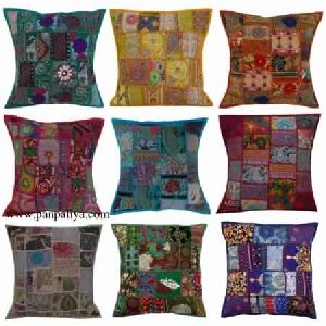 Vintage Sari Patchwork Cushion Covers