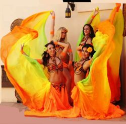 yard belly dance silk veil