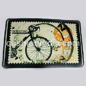 Cycle Vintage Stamp Printed Floor Mat