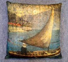 Painting Art Printed Velvet Cushion Cover