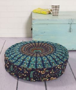 round hippie reversible floor cushion