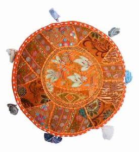 Chiar Cotton Pillow Cushion Ottoman Pouf