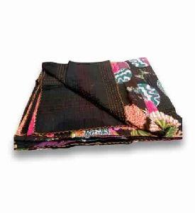 Decorative Fruit Kantha Handmade Rajasthani Quilt