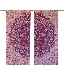 Lotus Design Handmade Hippie Cotton Window Curtain