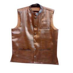 Mens Silk Nehru Jacket