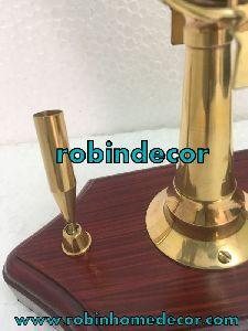 Telegraph Ship Anchor Collectible Pen Holder Engine Brass Antique Table Decor