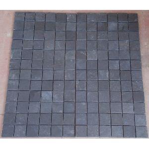 Himachal Black Quartzite Slate Mosaic Tile