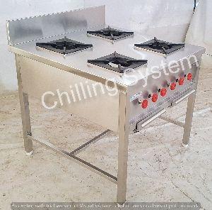 4 Burner Continental Cooking Range