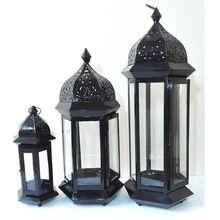 Mini Moroccan Metal Lantern Iron Glass Candle Holder