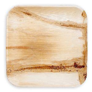 Areca Leaf Square Plain Plate