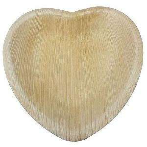 Heart Shaped Areca Leaf Plate