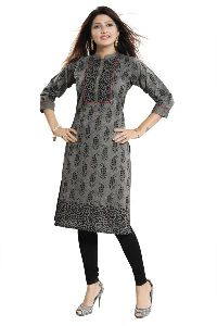 Long Cotton Kurti For Everyday Wear