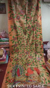 Printed Pure Silk Saree