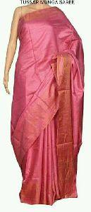 Tussar Munga Silk Saree