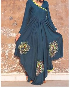 Peacock Fairy Anarkali Kurti