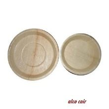 Deep Palm Leaf Round Plate