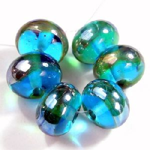 Clear Faceted Glass Bead