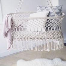 Macrame Bassinet Baby Hanging Cradle