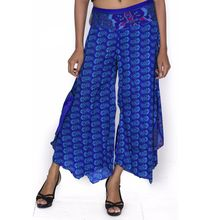 Handmade Indian Sari Silk Women Wear Palzo Dress