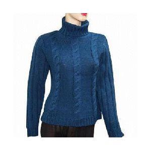 Ladies High Neck Sweater