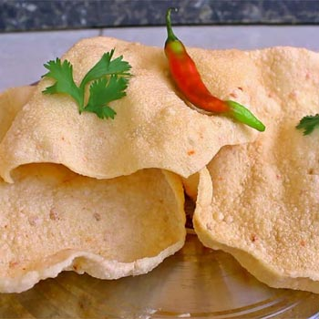 Spicy Rice Papad