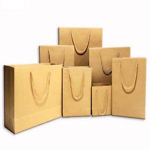 Shopping Brown Kraft Paper Bags