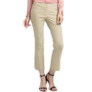 Ladies Plain Cotton Trouser
