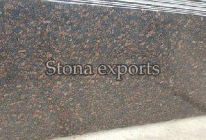 Glossy Tan Brown Granite Slab