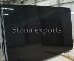 Polished Absolute Black Granite Slab