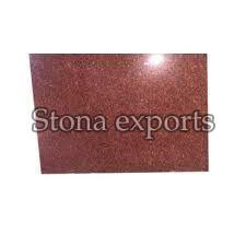 Polished Red Granite Slab