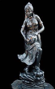 Black Stone Mohini Statue