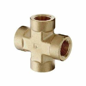 Brass Pipe Cross