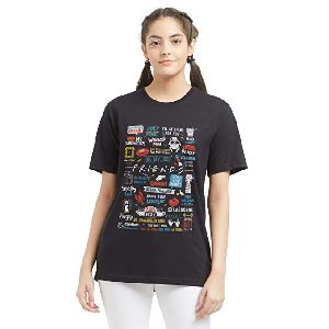 Ladies Cotton Printed T-shirt